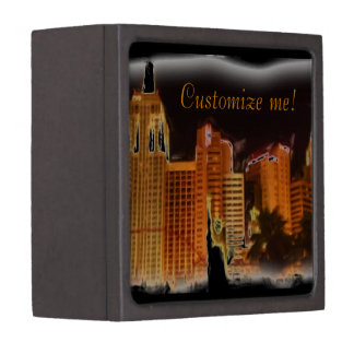 Customizable Vegas night scene keepsake gift box