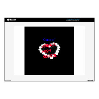 """Customizable Vernon High School Candle Heart Decal For 15"""" Laptop"""