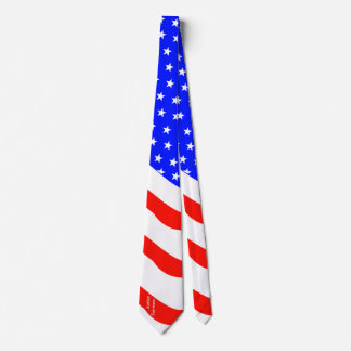 Customizable Vertical Text Stars and Stripes Tie