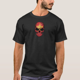 Customizable Vietnamese Flag Skull T-Shirt