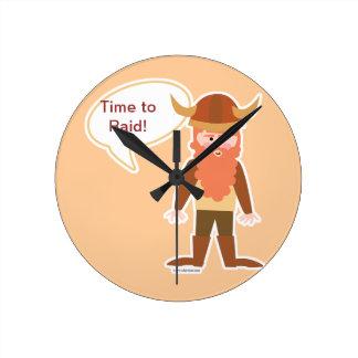 Customizable Viking Round Clock