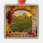 Customizable Vineyard (Wedding) Photo Ornament