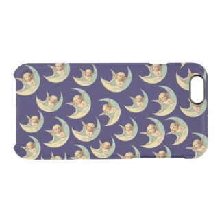 Customizable Vintage Angels in Crescent Moons Clear iPhone 6/6S Case