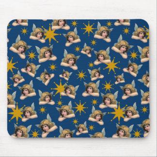 Customizable Vintage Angels & Stars Mouse Pad
