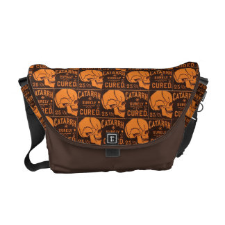 Customizable Vintage Apothecary Skulls Commuter Bags