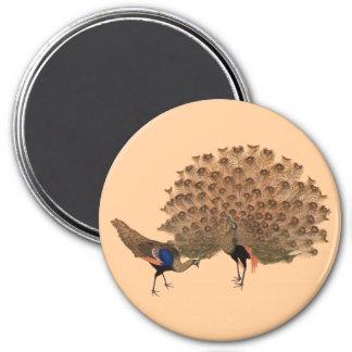 Customizable Vintage Asian Peacocks Magnet