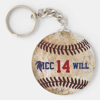 Customizable Vintage Baseball Key Ring YOUR TEXT