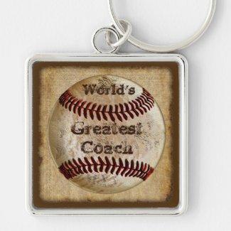 Customizable Vintage Baseball Keychains