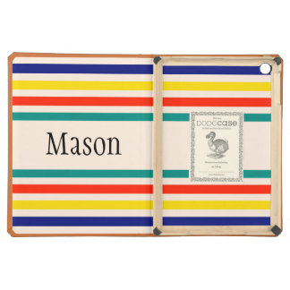Customizable Vintage Bold Striped iPad Air Case
