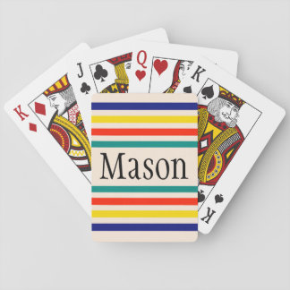 Customizable Vintage Bold Striped Playing Cards