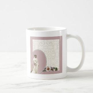 Customizable vintage bride wedding set - templates coffee mug