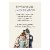 Customizable Vintage Business Card - Cat Couple
