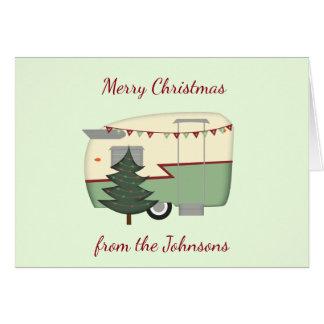 Customizable Vintage Camper Christmas Card