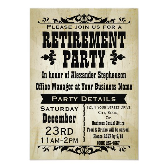 Customizable Vintage Country Party Invitations