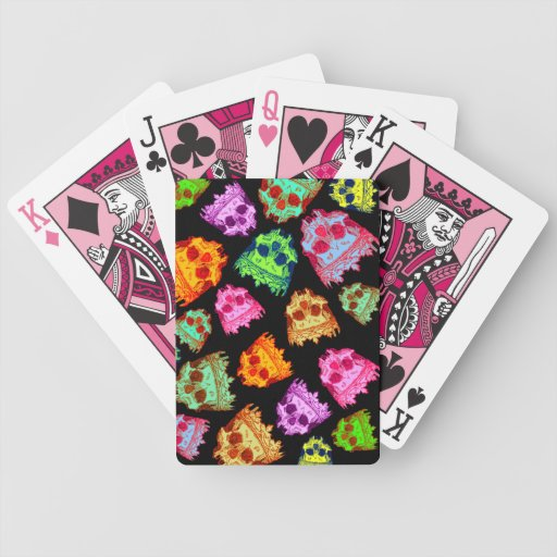 Customizable Vintage Crowned Skulls Bicycle Playing Cards