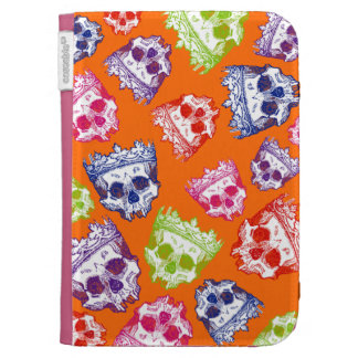 Customizable Vintage Crowned Skulls Case For The Kindle