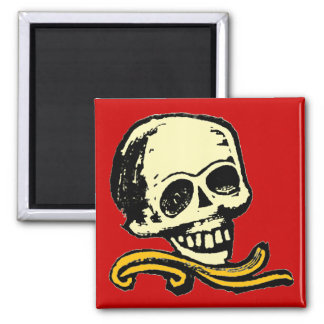 Customizable Vintage Decorative Skull Magnet