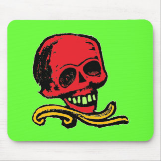 Customizable Vintage Decorative Skull Mouse Pad