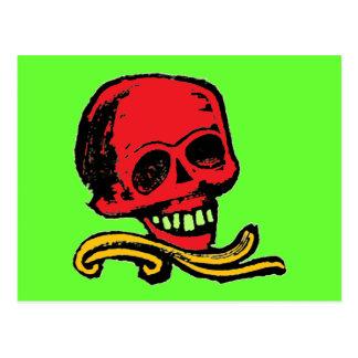 Customizable Vintage Decorative Skull Post Card