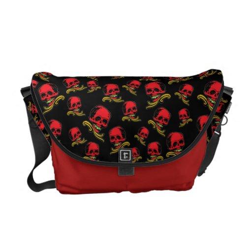 Customizable Vintage Decorative Skulls Courier Bags