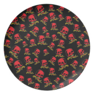 Customizable Vintage Decorative Skulls Plates