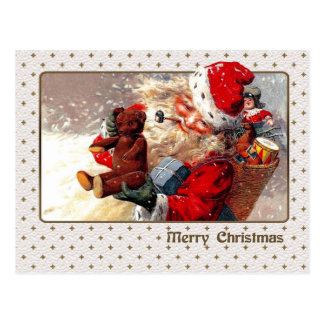 Customizable Vintage Design Christmas Postcard