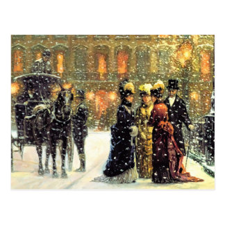 Customizable  Vintage Design Christmas Postcards