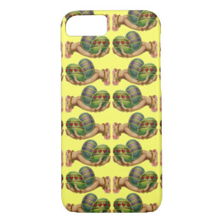 Customizable Vintage Easter Eggs in Hands iPhone 7 Case