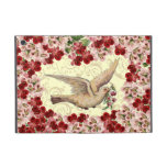 Customizable Vintage Floral Dove Swirl Cover For iPad Mini