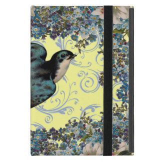 Customizable Vintage Floral Sparrow Swirl iPad Mini Cover