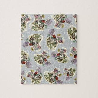 Customizable Vintage Flower Girl Jigsaw Puzzles