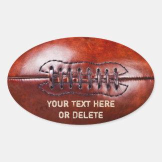 Customizable Vintage Football Stickers