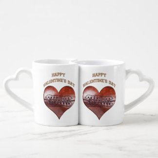 Customizable Vintage Football Valentine Mugs Lovers Mugs