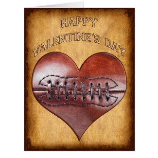 Customizable Vintage Football Valentines Day Cards