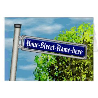 Customizable vintage German street sign - Greeting Card