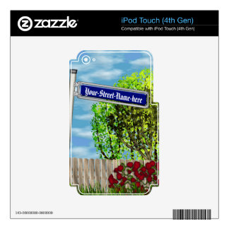 Customizable vintage German street sign - Decals For iPod Touch 4G