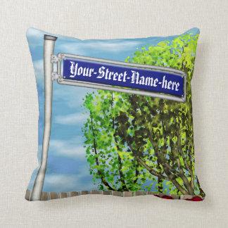 Customizable vintage German street sign - Pillow