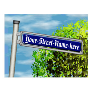 Customizable vintage German street sign - Postcard