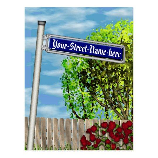 Customizable vintage German street sign - Postcard