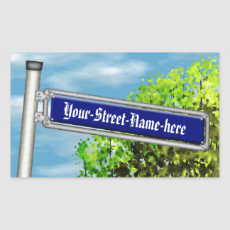 Customizable vintage German street sign - Rectangular Sticker