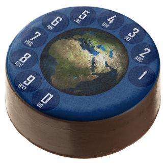 Customizable vintage global telephone Design Chocolate Covered Oreo