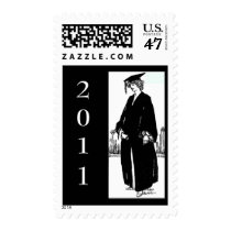 Customizable Vintage Graduate Postage