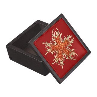 Customizable Vintage Haeckel Starfish Premium Jewelry Boxes