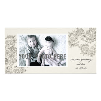 Customizable Vintage Inspired Christmas Card Photo Card