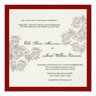 Customizable Vintage Inspired Wedding Invite