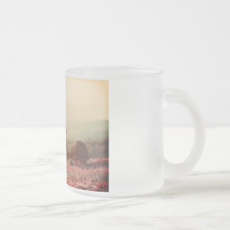 Customizable Vintage Kissing Kids under Sun Frosted Glass Coffee Mug