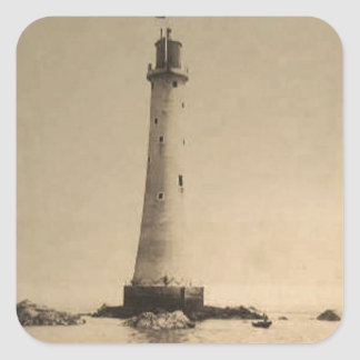 Customizable Vintage Lighthouse Photo Tees, Gifts Square Sticker