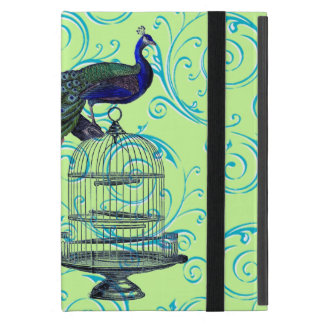 Customizable Vintage Peacock & Cage Swirl Cover For iPad Mini