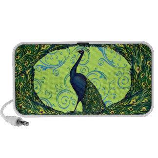 Customizable Vintage Peacock Notebook Speakers