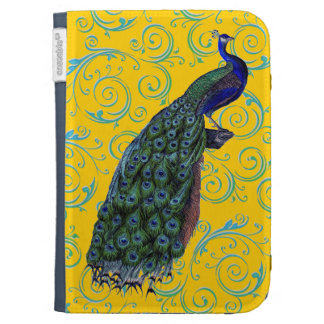Customizable Vintage Peacock Swirl Kindle Cover